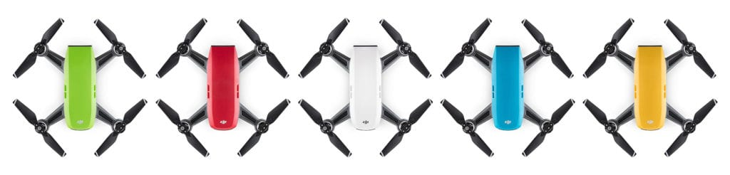 DJI Spark Quadcopter Drone Review Color Selection